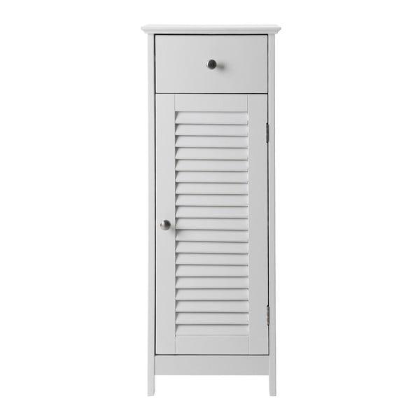 Bílá koupelnová skříňka se zásuvkou a dvířky Songmics, výška89cm