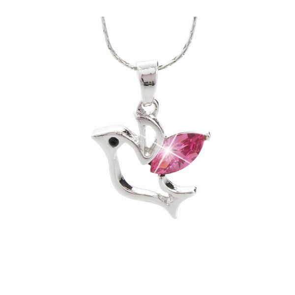 Náhrdelník s růžovými krystaly Swarovski® Yasmine Bird