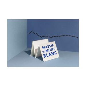 Černá nástěnná dekorace se siluetou města The Line Mont Blanc XL