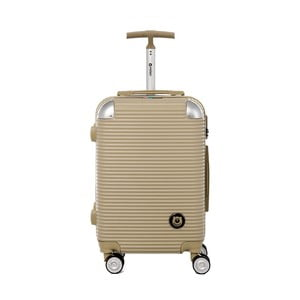Cestovní kufr na kolečkách ve zlaté barvě s kódovým zámkem Teddy Bear Larisa, 44 l
