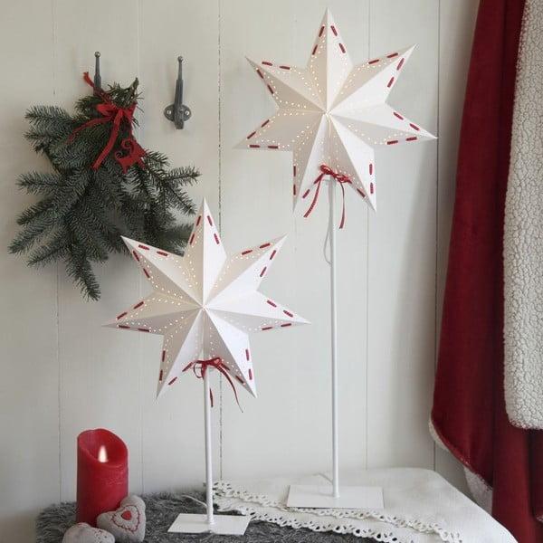 Svítící hvězda se stojanem Antique Red, 55 cm