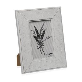 Ramă foto din lemn pentru fotografie Versa Madera Blanco 10x15cm