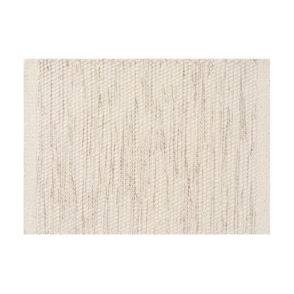 Vlněný koberec Asko, 140x200 cm, slonovinová kost