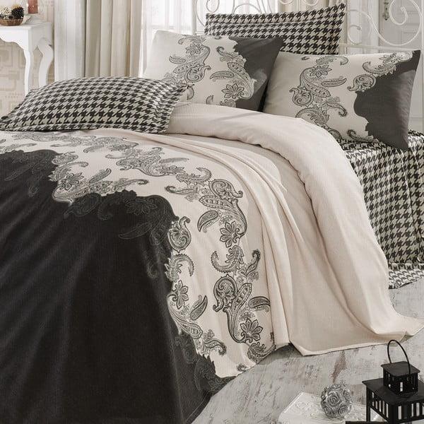Sada přehozu přes postel, prostěradla a 2 polštářů Double 443, 200x235 cm