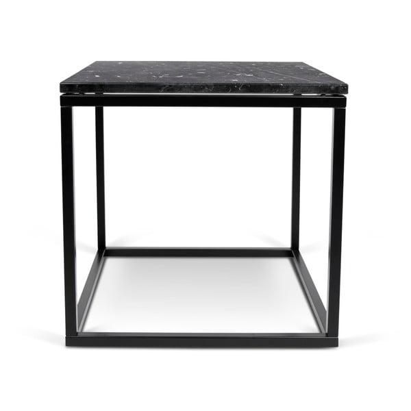 Mały czarny stolik w dekorze marmuru TemaHome Prairie Marble