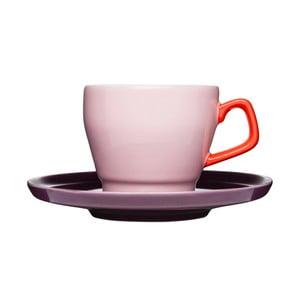 Šálek s podšálkem Sagaform Pop, růžový/fialový