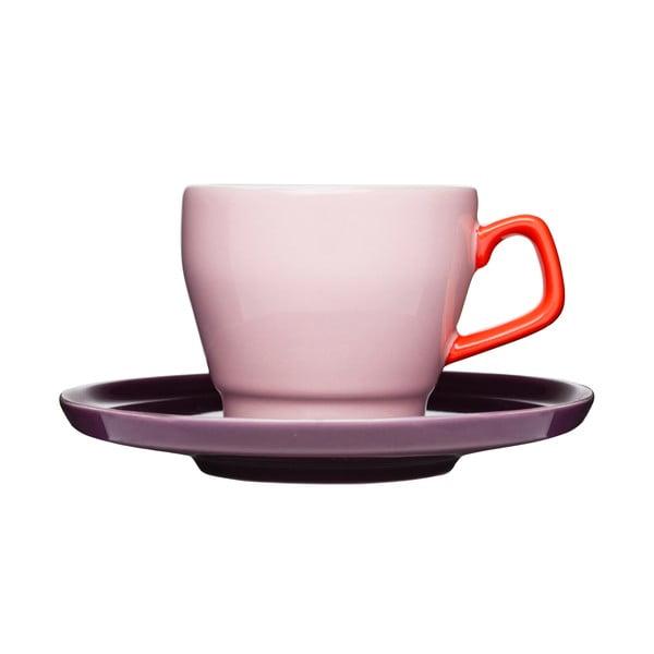 Ceașcă cu farfuriuță  Sagaform Pop, roz/mov
