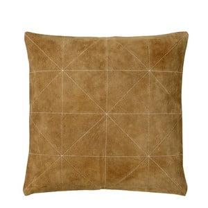 Polštář s náplní Triangle Brown, 45x45 cm