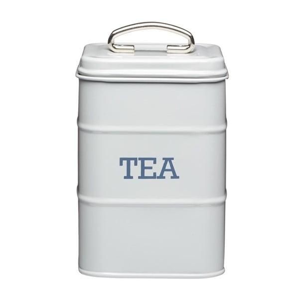 Szary metalowy pojemnik na herbatę Kitchen Craft Nostalgia