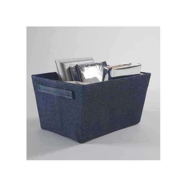 Úložný košík Dark Blue Rope, 32x21 cm