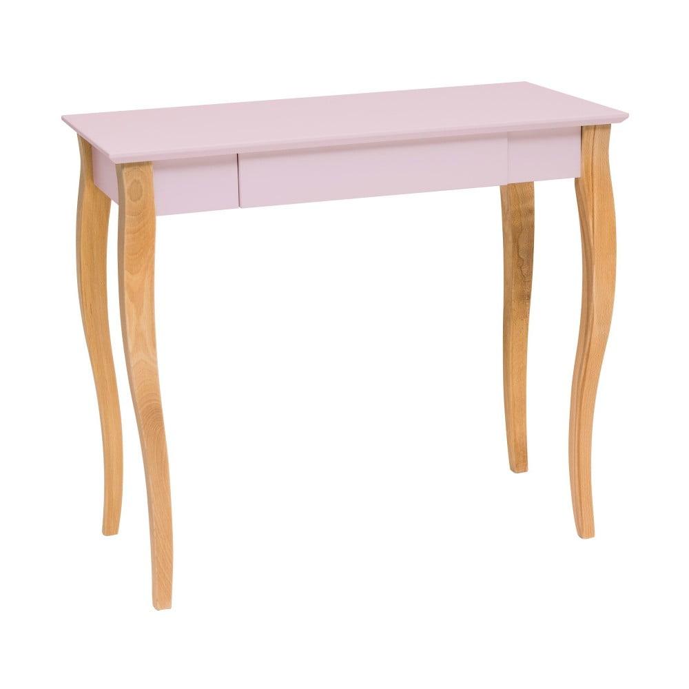 Růžový psací stůl Ragaba Lillo, délka 85 cm