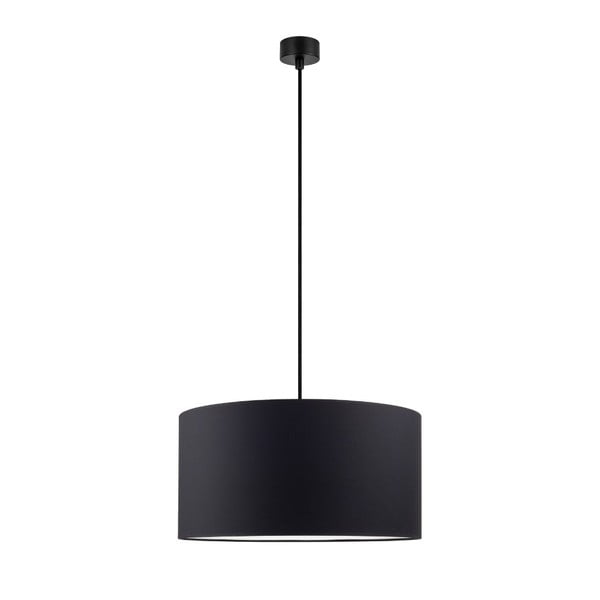 Mika fekete függőlámpa fekete kábellel, ∅ 40 cm - Sotto Luce