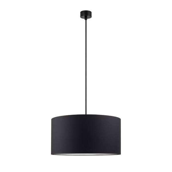 Čierne stropné svietidlo s čiernym káblom Sotto Luce Mika, ∅ 40 cm