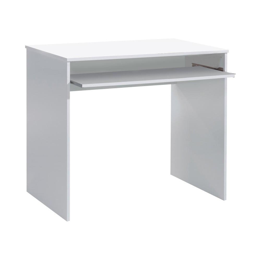 Lesklý bílý psací stůl 13Casa Hugo