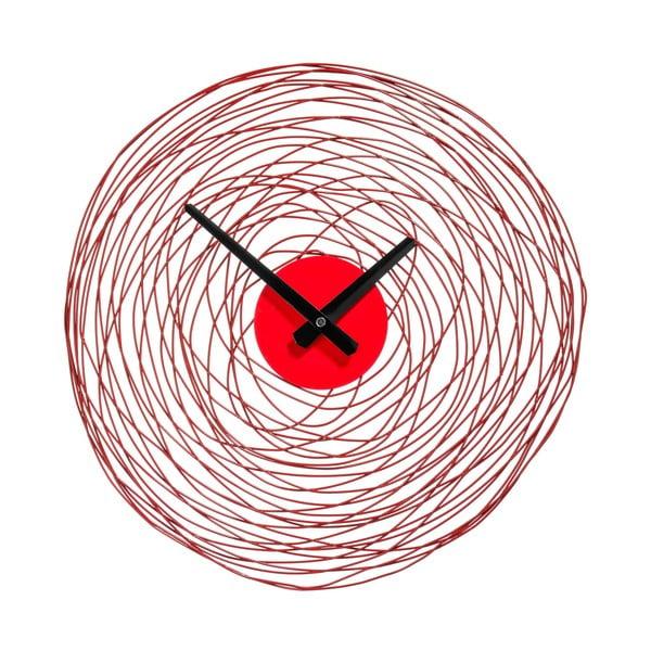 Nástěnné hodiny Red Swirl, 38 cm