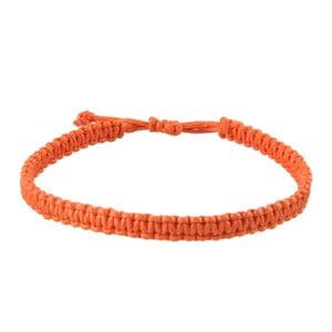 Náramek Macrame plain, orange