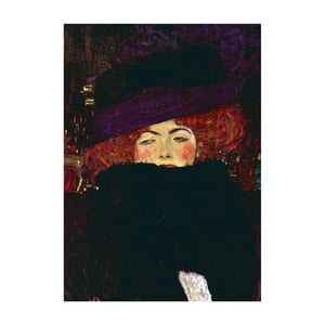 Gustav Klimt - obraz Lady with Hat, 70x50 cm