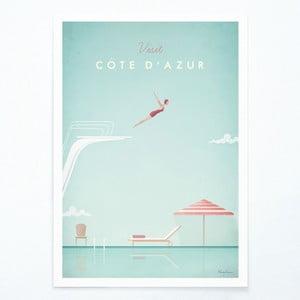 Poster Coasta de Azur Travelposter Côte d'Azur, A3