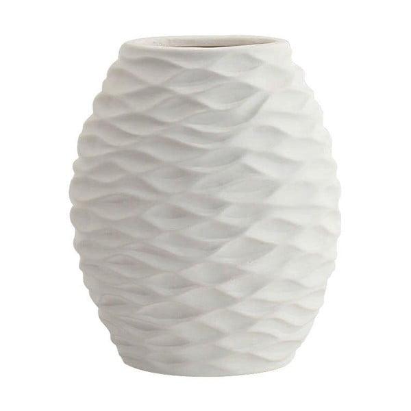 Keramická váza, bílá, 24 cm