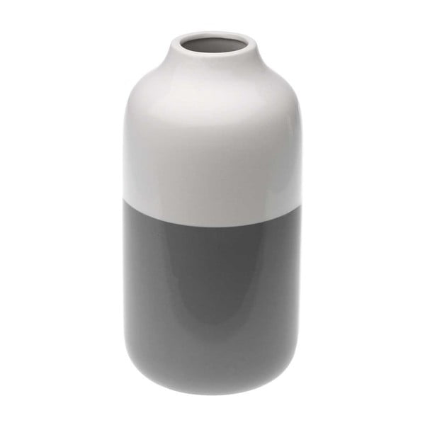 Šedobílá keramická váza Versa Turno, výška 23,2 cm
