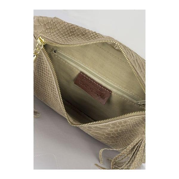 Kožená kabelka Erinn, taupe