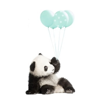 Autocolant pentru perete Dekornik Minty Panda 55 x 92 cm