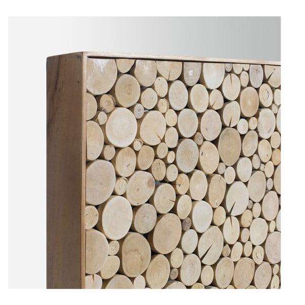 Dřevěné čelo postele dekorované mosaikou z tropického dřeva La Forma Koko, 105x135cm