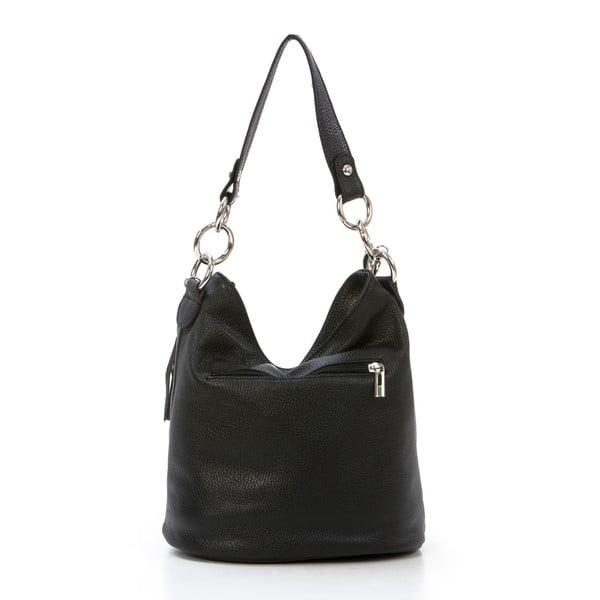 Kožená kabelka Luigi, černá