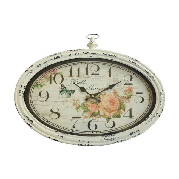 Oválné nástěnné hodiny Bolzonella Rose