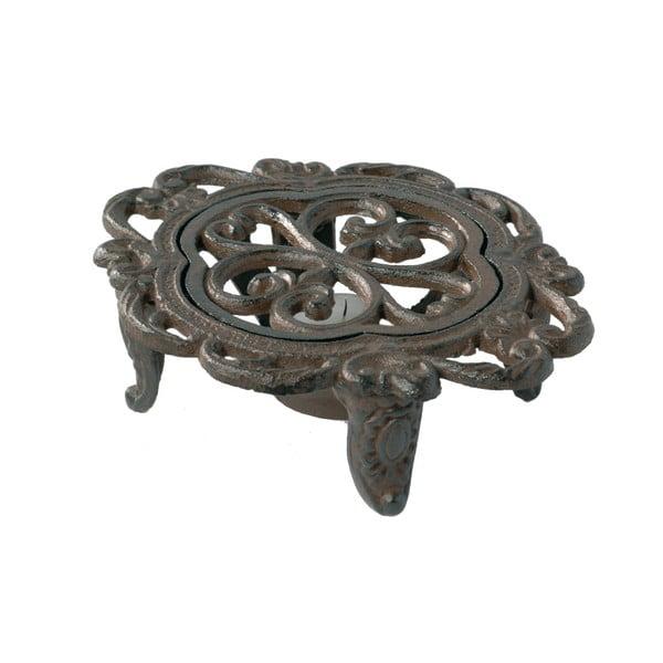 Kovová podložka pod hrniec / kanvicu s priestorom na sviečku Antic Line Trivet