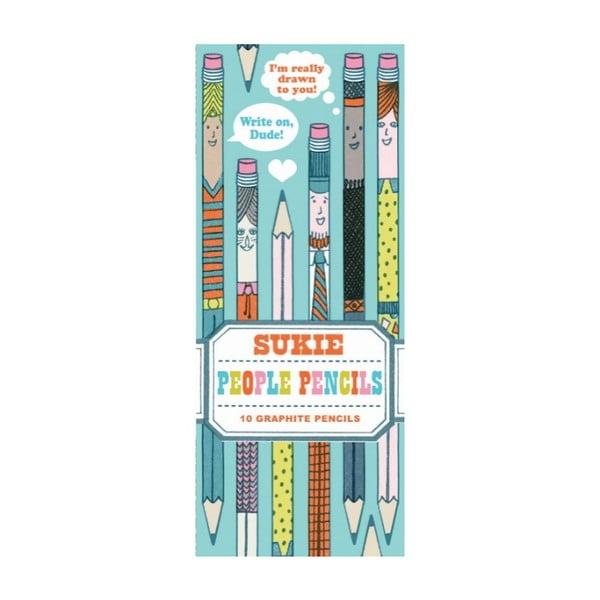 Sada tužek Chronicle Books People Pencils, 10ks