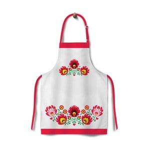 Kuchyňská zástěra Folk Red