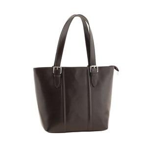 Kožená kabelka Italian Lady, tmavě hnědá