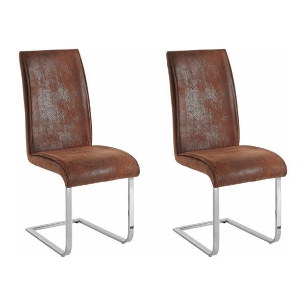 Sada 2 hnedých stoličiek Støraa Manto