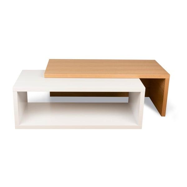 Konferenční stolek s detaily v dekoru světlého dřeva TemaHome Jazz