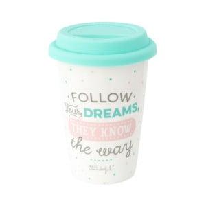 Cestovní kelímek z keramiky Mr. Wonderful Follow, 330 ml