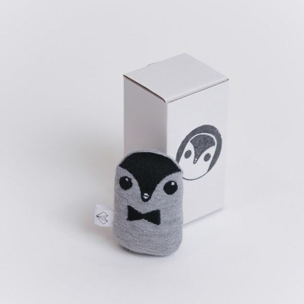Mini plyšák Tučňák v krabičce, červený motýlek