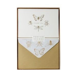 Sada 10 komplimentek s obálkami Portico Designs FOIL Entomology