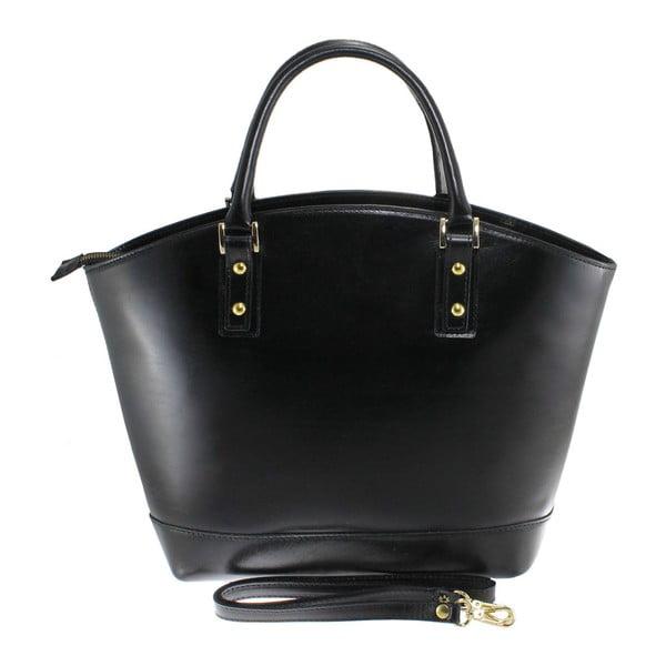 Černá kožená taška Stefania