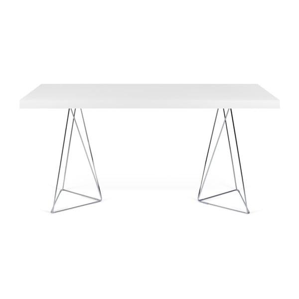 Biały stół do jadalni TemaHome Trestle, dł. 180 cm