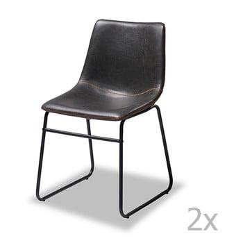 Set 2 scaune de bar Furnhouse Indiana, negru