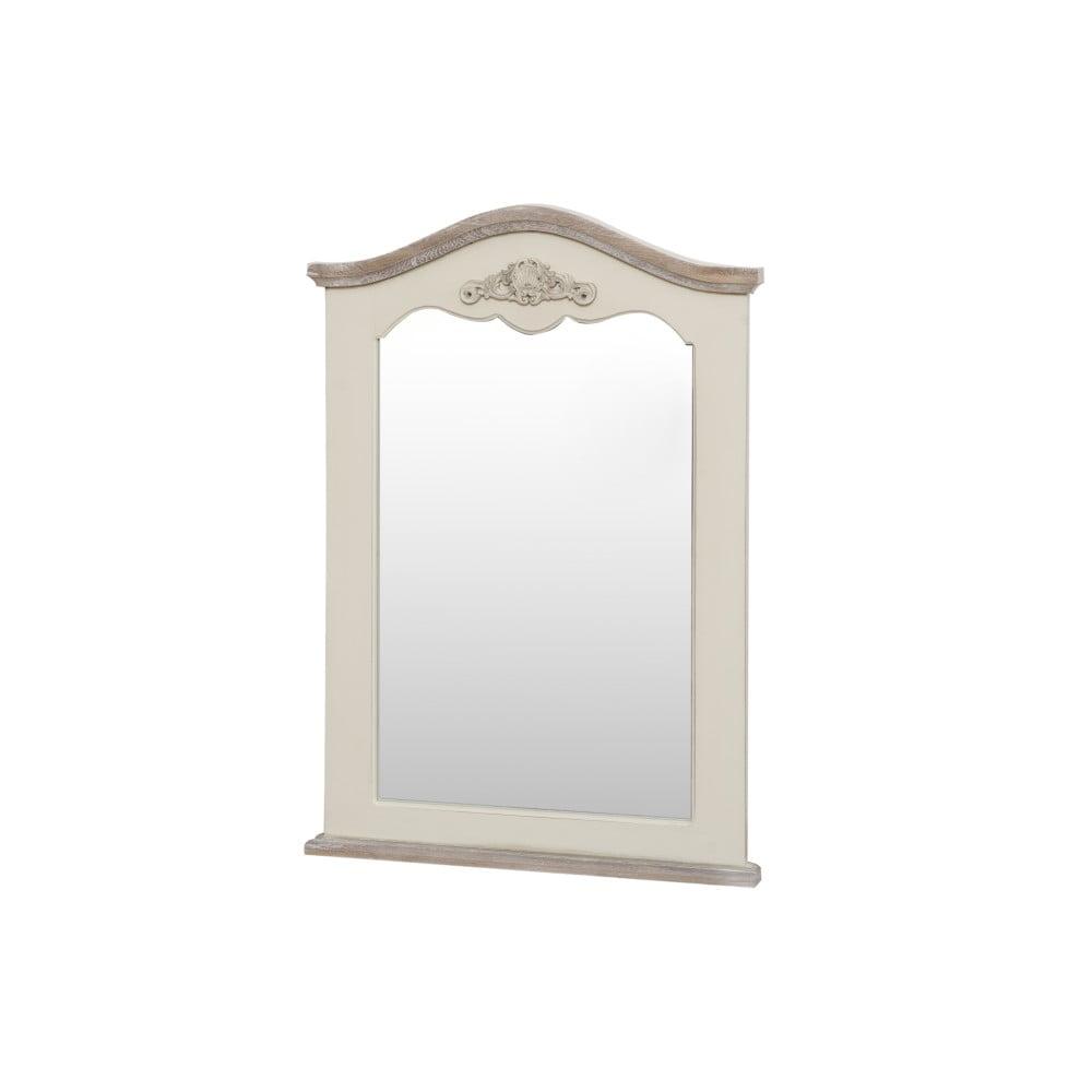 Zrcadlo v krémovém rámu z topolového dřeva Livin Hill Rimini, výška85cm