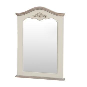 Oglindă din lemn de plop Livin Hill Rimini, crem, înălțime 85 cm