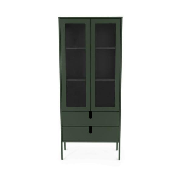 Vitrină Tenzo Uno, lățime 76 cm, verde închis
