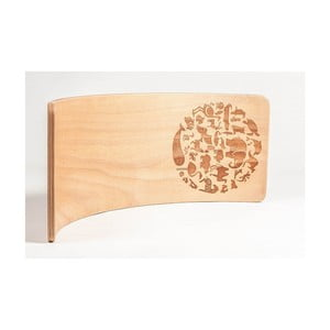 Velké gravírované bukové houpací prkno Utukutu Woudie Zvěrokruh, délka117cm