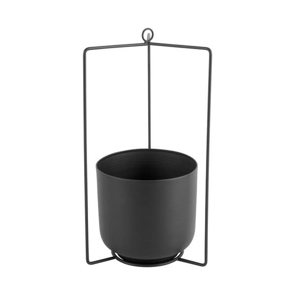 Ghiveci suspendat din metal PT LIVING Spatial, înălțime 36cm, negru