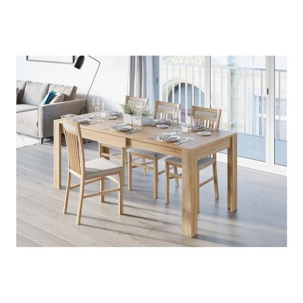 Rozkládací jídelní stůl v dekoru dubového dřeva Szynaka Meble Syrius