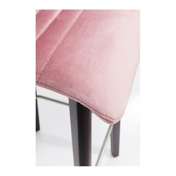 Sada 2 barových židlí s růžovým potahem Kare Design Lara
