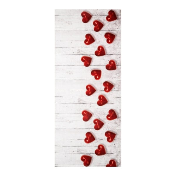 Vysoce odolný koberec Floorita Hearts, 58x80cm