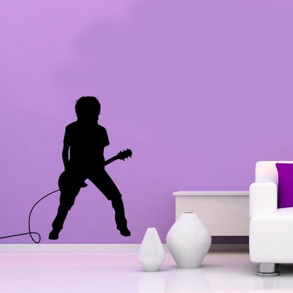 Vinylová samolepka na stěnu Kytarista